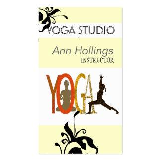Diseño floral de la yoga del lirio tarjetas de visita