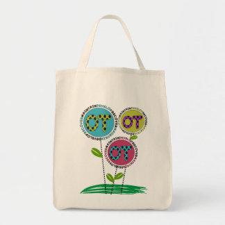 Diseño floral de las bolsas de asas de la terapia