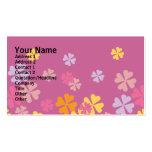 Diseño floral de las glicinias tarjetas de visita
