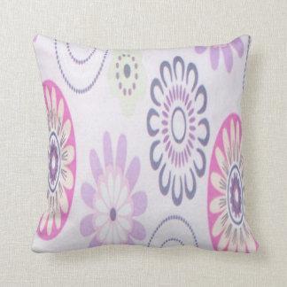 diseño floral de los años 60 almohadas