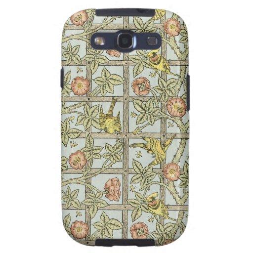 diseño floral de los morris de Guillermo del vinta Galaxy S3 Fundas
