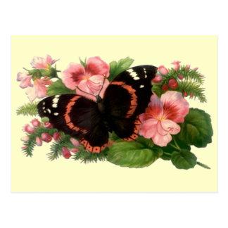 Diseño floral de los regalos del jardín de la postal