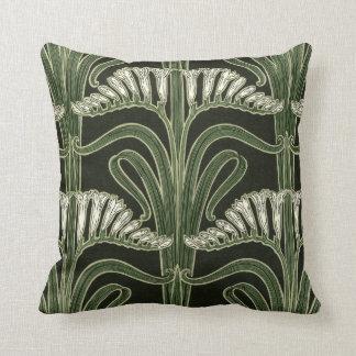 Diseño floral de Nouveau del arte - almohada