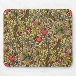 Diseño floral de oro William Morris de Lilly del Alfombrilla De Ratón