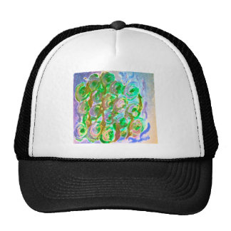 Diseño floral de Pascua Verde-Brown Gorras