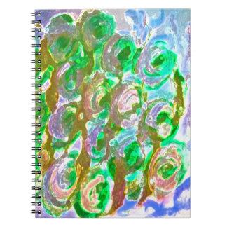Diseño floral de Pascua Verde-Brown Libro De Apuntes