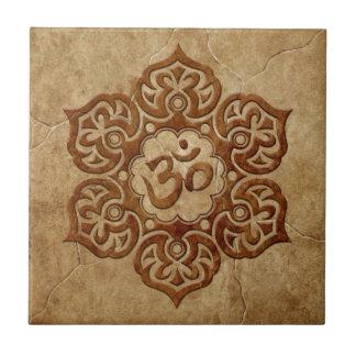 Diseño floral de piedra de Aum Tejas