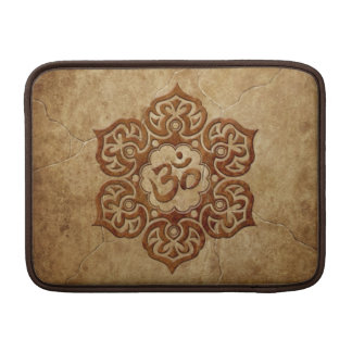 Diseño floral de piedra de Aum Fundas Para Macbook Air