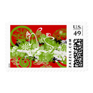 Diseño floral de Swirly Sellos
