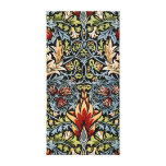 Diseño floral de William Morris Snakeshead Lona Estirada Galerías