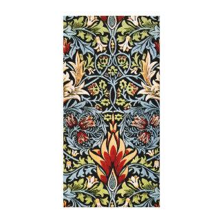 Diseño floral de William Morris Snakeshead Lona Envuelta Para Galerías
