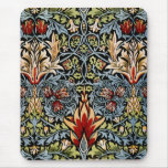 Diseño floral de William Morris Snakeshead Alfombrilla De Ratón
