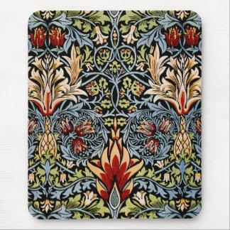 Diseño floral de William Morris Snakeshead Tapete De Raton