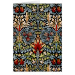 Diseño floral de William Morris Snakeshead Tarjetas