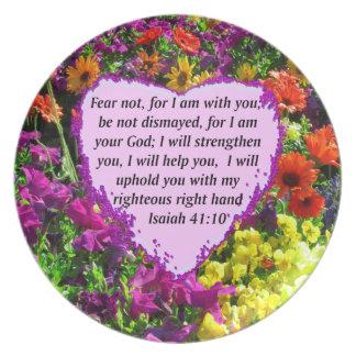 DISEÑO FLORAL DEL 41:10 BONITO DE ISAÍAS PLATO PARA FIESTA