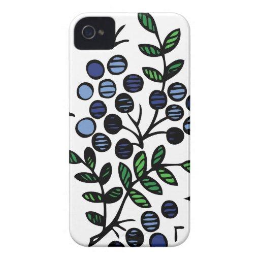 Diseño floral del arándano del caso del iPhone Case-Mate iPhone 4 Carcasa