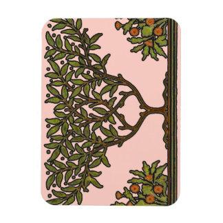 Diseño floral del árbol del vintage de William Mor Imán Rectangular