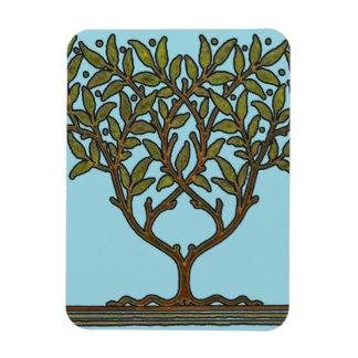 Diseño floral del árbol del vintage de William Mor Imanes