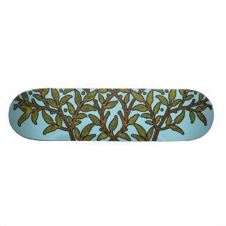 Diseño floral del árbol del vintage de William Mor Monopatín Personalizado