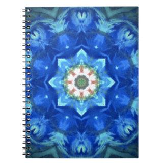 diseño floral del azul del hippy cuadernos