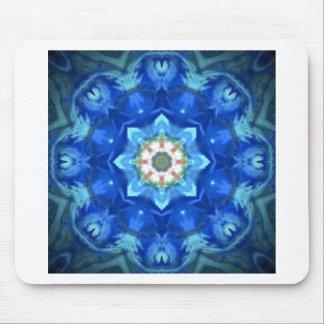 diseño floral del azul del hippy tapetes de raton