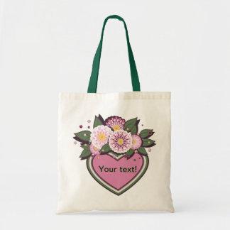 Diseño floral del bolso bolsas