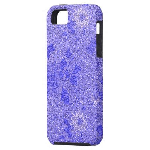 diseño floral del damasco de iphone4-Lavender iPhone 5 Case-Mate Protectores