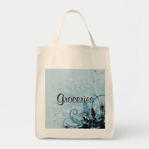 Diseño floral del Grunge - azul claro
