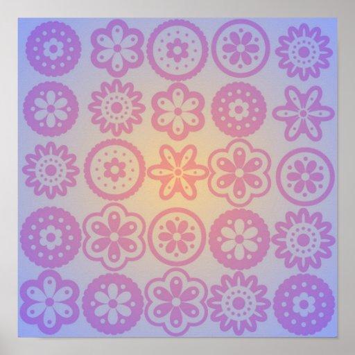 Diseño floral del Hippie Impresiones