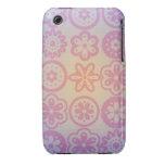 Diseño floral del Hippie iPhone 3 Cárcasas