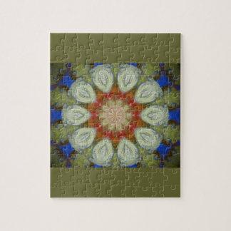 diseño floral del hippy rompecabeza con fotos