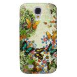Diseño floral del JARDÍN de la MARIPOSA Funda Para Galaxy S4