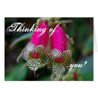 Diseño floral del leopardo felicitación