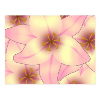 Diseño floral del lirio postal