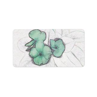 diseño floral del molinillo de viento de la flor etiquetas de dirección