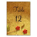 Diseño floral del número el | de la tabla del boda
