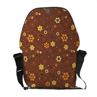 Diseño floral del otoño bolsa de mensajeria