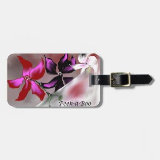 Diseño floral del peekaboo etiquetas de maletas