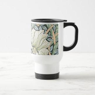Diseño floral del Pimpernel de William Morris Taza De Viaje De Acero Inoxidable