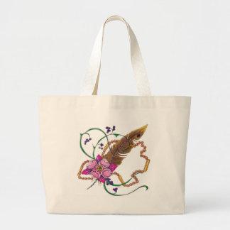diseño floral del poppa doc. bolsa de mano