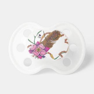 diseño floral del poppa doc. chupete