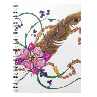 diseño floral del poppa doc. libros de apuntes