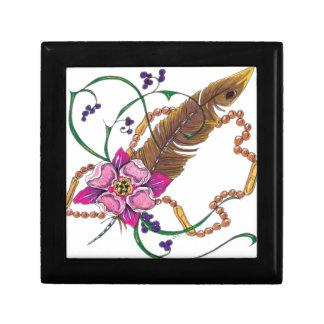 diseño floral del poppa doc. caja de regalo