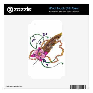 diseño floral del poppa doc. iPod touch 4G skin