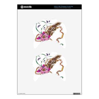 diseño floral del poppa doc. mando xbox 360 calcomanía
