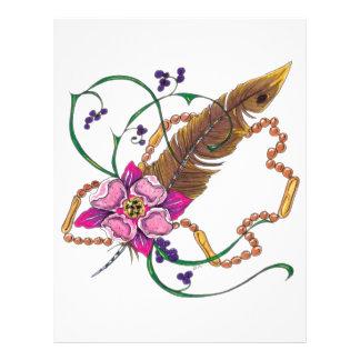diseño floral del poppa doc. plantillas de membrete