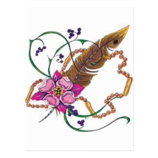 diseño floral del poppa doc. postal