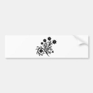 Diseño floral del remolino del chino etiqueta de parachoque