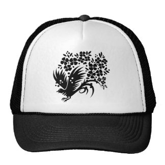 Diseño floral del remolino del chino gorras