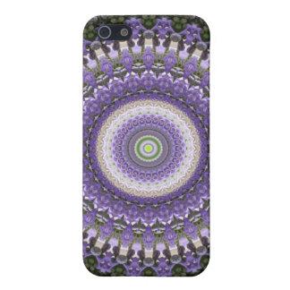 Diseño floral del remolino púrpura fresco del iPhone 5 carcasa